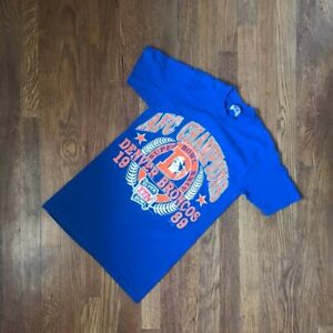 Vintage Denver Broncos 1989 Tshirt AFC Champions