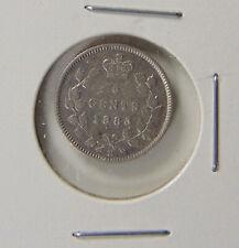 1883H Canada - 5 cents SILVER coin - Graded FINE