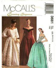 McCall's 3681 Pattern RENAISSANCE MEDIEVAL Gown Top Long Skirt Sz 6-8-10-12 UC