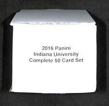 2016 Panini Collegiate_Indiana University_Hoosiers_Complete 50 Card Set