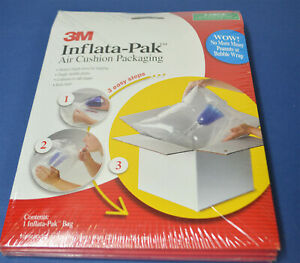 """3M Inflata-Pak Air Cushion Packaging - LARGE inside pocket 10"""" x10""""  (Pack of 4)"""