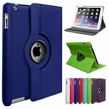 More details for leather 360 rotating smart case cover apple ipad air 2 pro air 10.5 12.9 mini 5