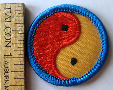Vintage Girl Scout 1980-91 Junior WORLD IN MY COMMUNITY BADGE Yin Yang Patch NEW