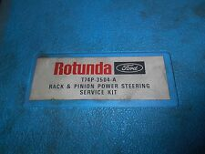 1970's FORD DEALER RACK AND PINION POWER STEERING SERVICE TOOLS KIT SET ORIGINAL