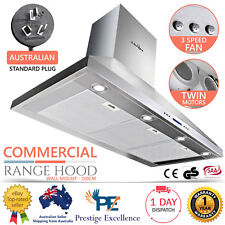 BBQ Range Hood Kitchen Canopy Commercial Rangehood Stainless Steel 1200mm Silver