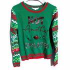 Ugly Christmas Sweater No Boundaries Medium 7/9 juniors green red fair isle M