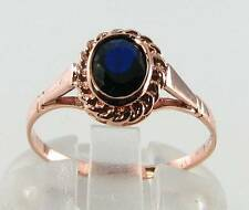 9Carat Rose Gold Sapphire Ring Vintage Fine Jewellery