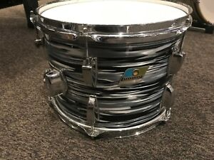 Ludwig vintage 9x13 Black Oyster tom modded and rewrapped Granitone B/O badge