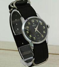 1950's RADO Military Swiss made mechanical wristwatch. Cal. AS 1130, black dial