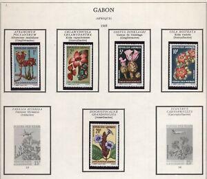 Gabon 1969 Fiori serie cpl nuova gomma integra MNH T382