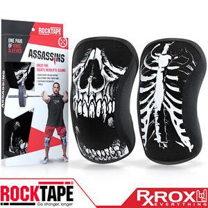 RockTape Assassins Knee Support Sleeves | Pair | 5mm | Skull | CrossFit