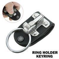 Stainless Steel Detachable Key Chain Belt Clip Ring Holder Keyring New
