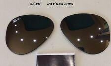 """RAY BAN  coppia lenti sole  X  3025  """" specchio GRIGIO """"  55 mm"""