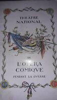 Programme du Théâtre National de l'opéra Comique pendant la Guerre 1918