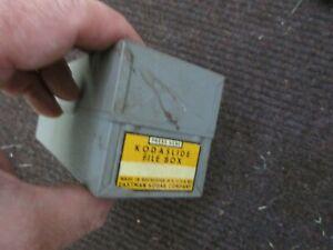 Vintage 1950's Kodak Kodaslide Steel FIle Box w inserts