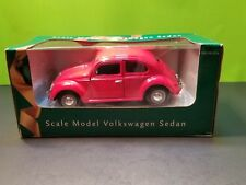 Red Volkswagen Beatle Sedan 1:24 Scale Die Cast  NIB