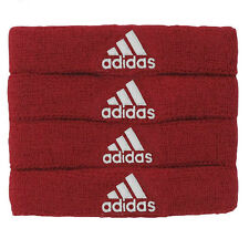 Adidas Interval 3/4-Inch Bicep Bands Sports Accessory-University Red/White (NEW)