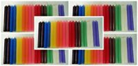"""LOT OF 100 ASSORTED COLOR SPELL CHIME CANDLES 4"""" x 1/2"""" (Altar Wicca) SHIP FREE"""