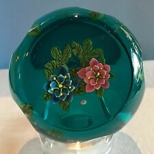 """William Manson for Caithness """"Rose Garland"""" Limited Edition Flower Paperweight N"""