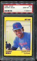 1990 Star #61 SAMMY SOSA Chicago White Sox RC ROOKIE PSA 10 GEM MINT