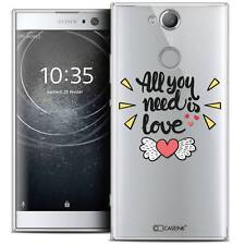 "Coque Crystal Gel Pour Sony Xperia XA2 (5.2"") Souple Love All U Need Is"