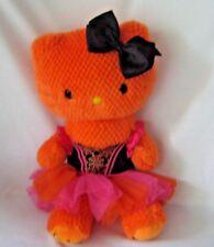 "Build a Bear Hello Kitty Orange Plush 18"" Halloween Dress Clean"