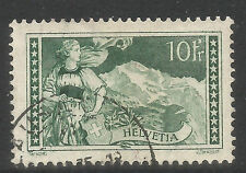 Switzerland 1930 10fr gray green Jungfrau--Attractive Topical (185) fine used