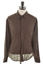 Camicia da uomo Calvin Klein Marrone XL COTONE SLIM FIT