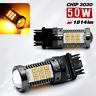3157 Error Free Canbus LED Amber Rear Turn Signal Light Bulbs 2 bulbs