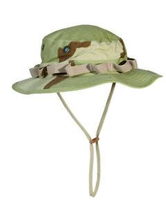 US Army Camo GI Dschungelhut R/S Boonie Hat Desert Gr S Fischerhut Anglerhut