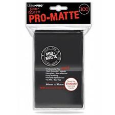 ULTRA PRO Deck Protector Sleeves Pro Matte Black Standard 100ct 66 x 91 mm
