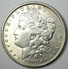 1901 Morgan Silver Dollar $1 (1901-P) - Choice AU Details - Rare Date!