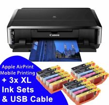 Canon PIXMA iP7250 WiFi USB Photo CD DVD Printer + 3x 550 551 XL Ink + USB Cable
