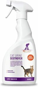 Pet Power Cat Urine Destroyer Enzyme Based Spray Removes Odours Tough Stains