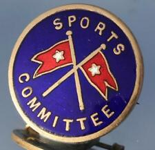 WHITE STAR LINE RMS OLYMPIC TITANIC ERA RARE SPORTS COMMITTEE BADGE C-1910/20