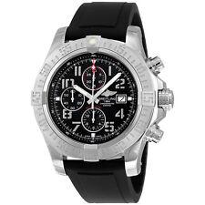 Breitling Super Avenger II Black Dial Black Rubber Mesn Watch A1337111-BC28BKPD