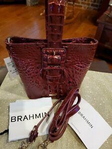 Brahmin Faith Wristlet Crossbody Cranberry Melbourne NWT $265