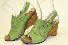 El Naturalista Womens Size 8 39 Leather Buckle Wedge Sandal Spain Made Shoes 789