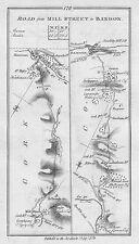 1778 Ireland Cork Macroom Millstreet Bandon Kenmare Kerry etc Antique Road Map
