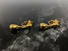 Earrings Jewellery by Trifari Classic Vintage Gold-tone Clip on
