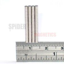 100 pequeños imanes 2x1 mm N52 Imán de neodimio de pequeño Redondo artesanía Neo 2mm diámetro x 1mm