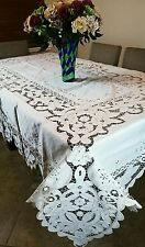 "Large Rectangle Polyester Embroidery Floral 72x162"" Tablecloth Wedding Banquet"