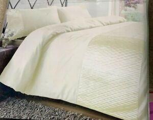 Monaco Cream Duvet Cover Set 100% Polyester Super King Size With Pillowcases