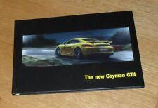 Porsche Cayman GT4 Hardback Brochure 2015-2016 - UK Market