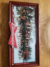 Budweiser Clydesdale light up sign. Works!