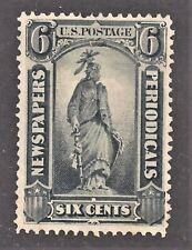 Scott PR12 6C Black Newspaper & Periodical Stamp Thin Hard Paper Mint No Gum