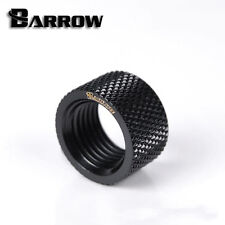 "Barrow G1/4"" Matte Black Dual Female Extender Fitting - 10.5mm Watercooling -079"