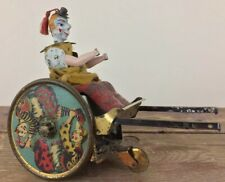 Antique ca1900 Lehman Windup Balky Mule Clown In Cart German Tin Toy For Parts