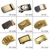 "Designer Gold Mens Belt Buckles Automatic Ratchet Buckles for 1.3"" to 1.4"" Belts"
