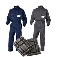 Delta Plus M6COM Mens Work Overalls Boiler Suit Mechanics Coveralls + Knee Pads